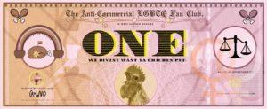 Digital illustration of a stylised pink banknote